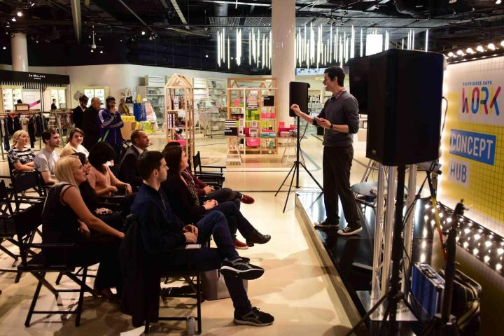 Performing my stand up show for Selfridges.