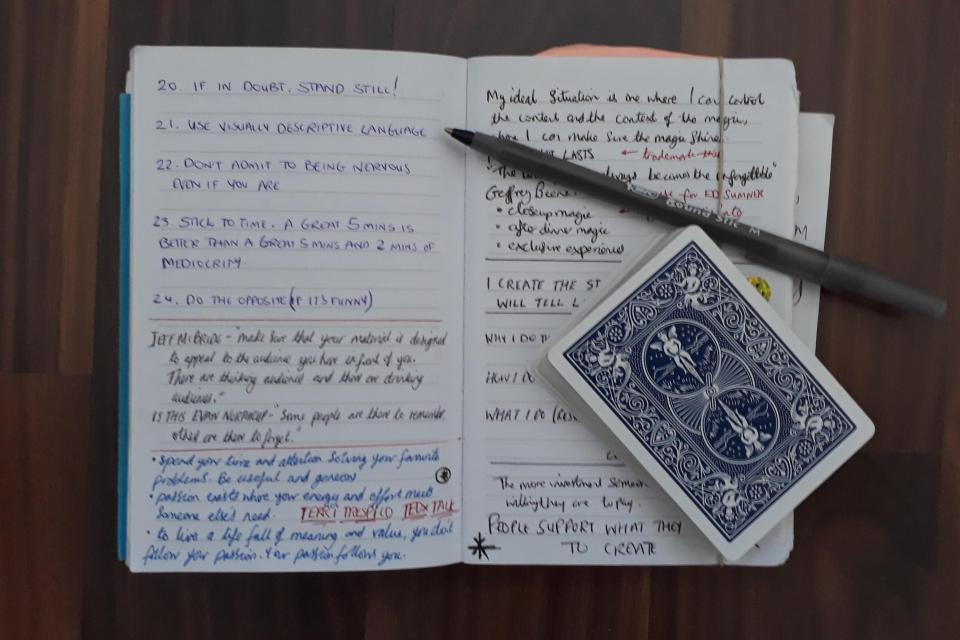 magicians notebook