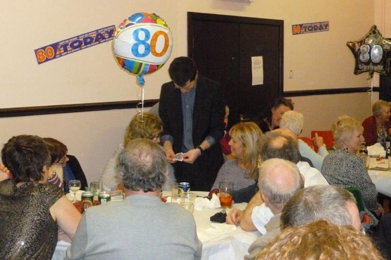 party close up table magician stafford